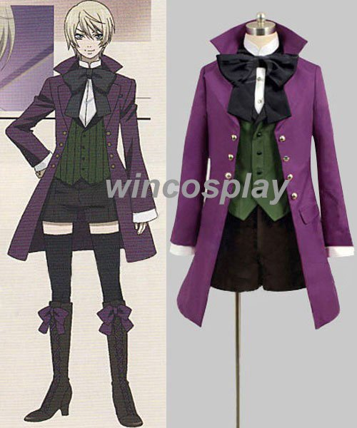 Kuroshitsuji Black Butler Alois Trancy Anime Cosplay Costume
