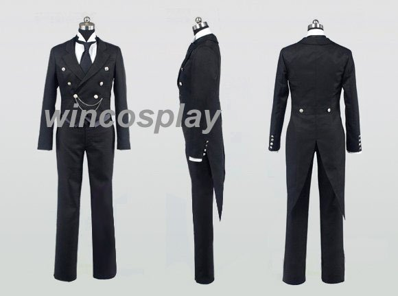 Kuroshitsuji Black Butler Claude Faustu Cosplay Costume for men halloween costume