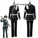 SAO Sword Art Online Alicization Season 3 Kirigaya Kazuto Cosplay Costume Kirito