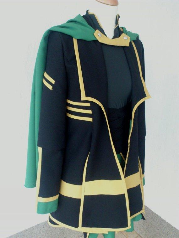 Lady Loki cosplay cotume Female Loki costume Loki dress Female costume