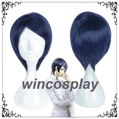 Japan Anime Persona5 P5 Kitagawa Yuusuke Fox Navy Short Hair Yusuke Kitagawa Cosplay Wig