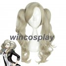 Persona 5 P5 Anne Takamaki Linen Long Curly Wavy Clip Ponytails Hair Cosplay Wig