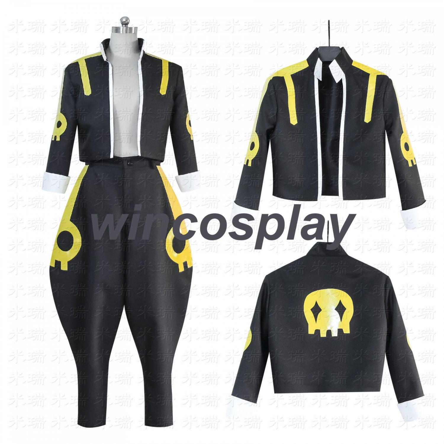 FAIRY TAIL Etherious Natsu Dragneel Cosplay Costume custom made for men halloween costume