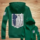 2 Colors Attack On Titan Shingeki No Kyojin Hoodie Costume Jacket Green /black hooded jacket