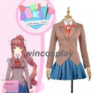 Doki Doki Literature Club Monika Cosplay Costume School Uniform Girl Women Costume Game