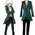 Super Danganronpa 2 Nagito Komaeda Nagito Army Green Color Jacket ONLY Cosplay Costume Real Pockets