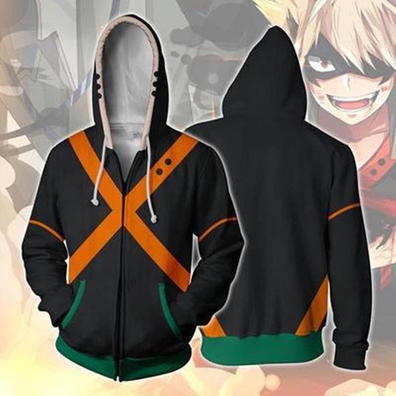 My Hero Academia cosplay costume sweatshirts bakugo katsuki 3D hoodies