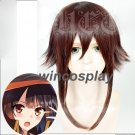 KonoSuba God's Blessing On This Wonderful World Megumin Brown Fluffy Cosplay Wig