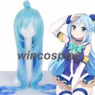 KonoSuba God's Blessing on this Wonderful World Aqua Cosplay Blue Wig Long Hair