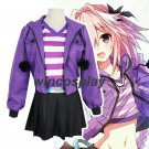 Fate Apocrypha Astolfo Cosplay Costumes Women Purple Jacket Spring Coat For Halloween Party