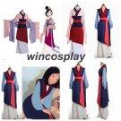 Hua Mulan Dress Blue Dress Princess Dress Movie Cosplay Costume Custom Made