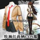 Steins Gate  Makise Kurisu Cosplay costume  Makise Kurisu Jacket Coat Outfit Suits Uniform