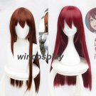 Steins Gate Makise Kurisu cosplay wig  Christina Assistant Straight Wigs 2 Color Cosplay Wig