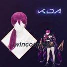 League of Legends LOL Evelynn Long Rose Purple Cosplay Wig LOL KDA team cosplay wig