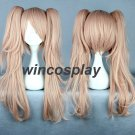 Danganronpa Dangan-Ronpa Junko Enoshima Long Hair Ponytails Pink Cosplay Wig