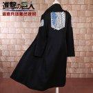 Shingeki no Kyojin Levi Rivaille Jacket Cloak  cosplay costume Attack on Titan Windbreaker Black
