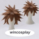 Kingdom Hearts III Sora Short Afro Pale Brown Heat Resistant Synthetic Hair Cosplay Costume Wig