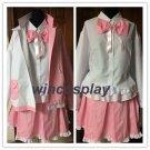 Danganronpa Dangan-Ronpa 2 Monomi mix pink/white Cosplay Costume monomi pink costume 100%cotton