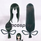 My Hero Academia cosplay Baku no Hero Asui Tsuyu Dark Green Long Straight Cosplay Wigs