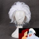 Ursula Wig Rick Morty Rick Sanchez Cosplay Wigs Short Layered White Straight