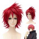 Naruto Akatsuki Sasori Short Straight Red Anime Cosplay Hair Wig