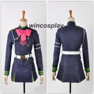 Seraph of the End Shinoa Hiragi Girls Uniform Dress Suit Cosplay Costume