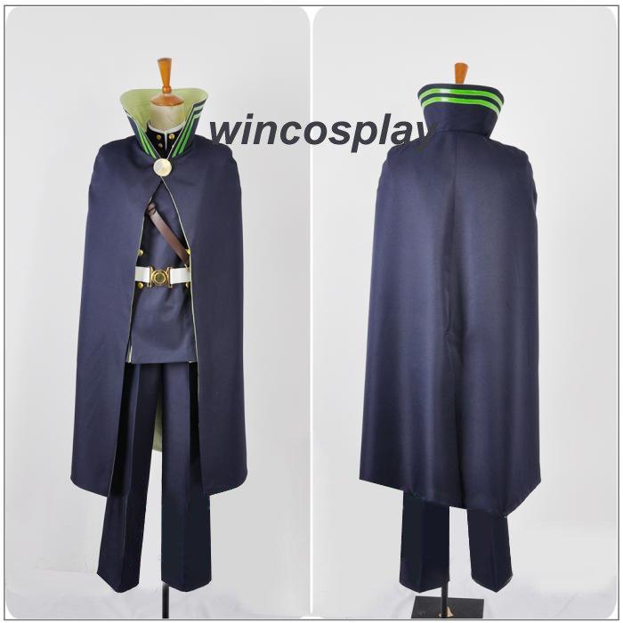 Owari no Seraph of the End Yuichiro Hyakuya Cosplay Costume Outfit Uniform Cape