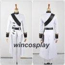 Seraph of the End Ferid Bathory Halloween Party White Uniform Set Cosplay Costum