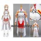 Sword Art Online SAO Yuki Asuna Cosplay Uniform Costume Dress Suit