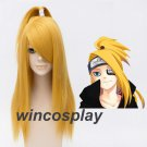 NARUTO Deidara 50cm Long Straight Golden Yellow Heat Resistant Cosplay Costume Wig