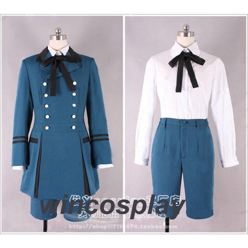 Black Butler Kuroshitsuji Ciel Phantomhive Cosplay Costume ciel cosplay Halloween Costume