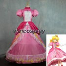 Super Mario Princess Peach Pink Dress Peach cosplay Costume