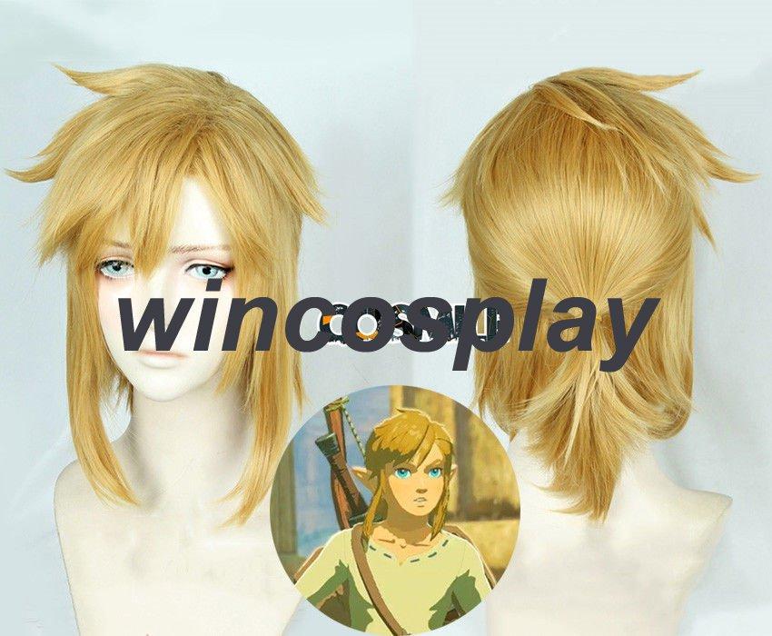 The Legend of Zelda: Breath of the Wild Link Short Golden Heat Resistant Hair Cosplay Costume Wig