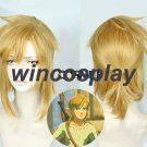 The Legend of Zelda: Breath of the Wild Link Short Golden Heat Resistant Hair Cosplay Costume Wig