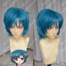Sailor Moon Sailor Mercury Mizuno Ami Short Styled Cyan Blue Color Cosplay Costume Wig