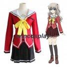 Anime Charlotte Tomori Nao Long Sleeve School Uniform Cosplay Costume