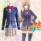 Shokugeki no Soma Nakiri erina Cosplay Costume School Uniform