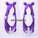 K/DA Kaisa Long Purple Braid Wig With Bun Cosplay wig KDA Kai'Sa Women Hair Party Role Play Wigs