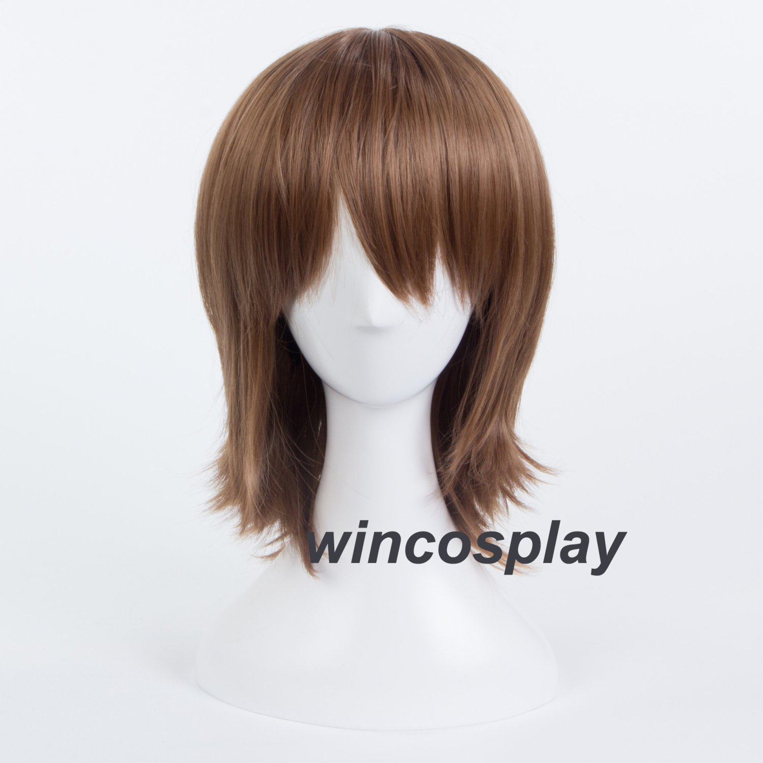Persona 5 P5 Goro Akechi Cosplay Wig Medium Long Brown Flaxen Hair Anime Wigs