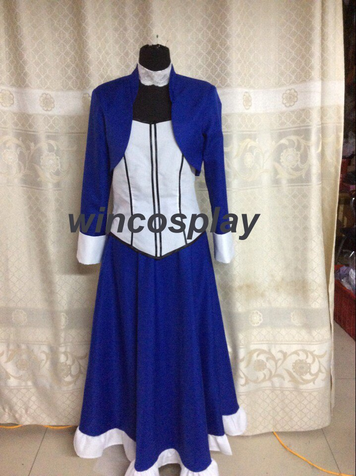 BioShock 3 Infinite Elizabeth Blue Dress Cosplay Costume custom made