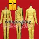 Kill Bill the Bride Cosplay Costume Uniform Yellow