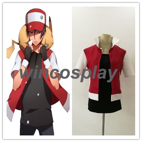 Pocket Monster Pokémon Ash Ketchum Cosplay Costume teen Ash Ketchum costume
