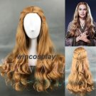 Game of Thrones Cersei Lannister Wig Long Wavy Golden Brown Cosplay Wig