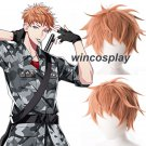 2colors Division Rap Battle Hypnosis MIC Busujima Meison Riou Orange Wig