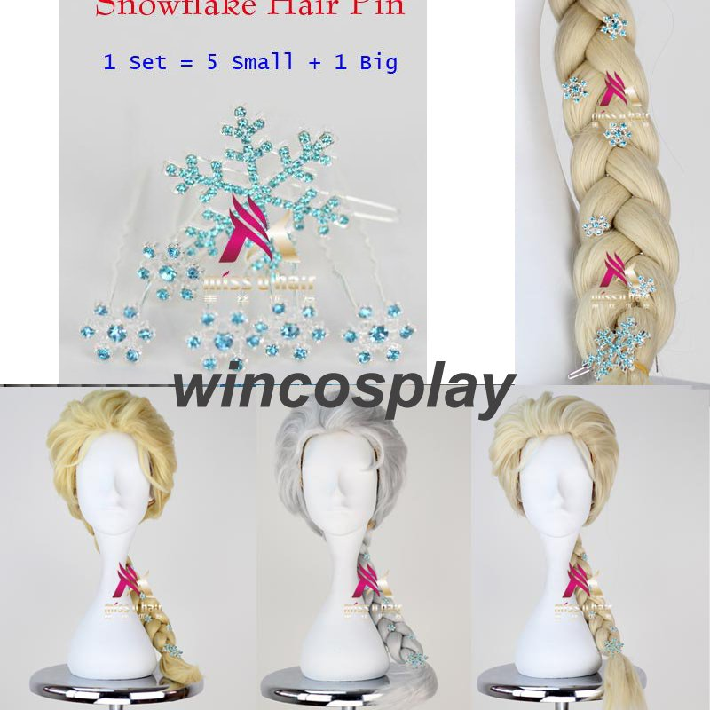 3 Colors Movie Frozen Snow Wig Queen Elsa  Wig Long Weaving Braid Cosplay Wig