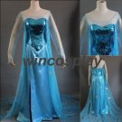 Disney Frozen-- Elsa Cosplay Costume princess dress movie cosplay adult size