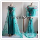 Movie Frozen Hot Princess Elsa snow queen cosplay costume Dress Adult NEW