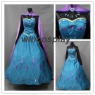 Frozen Snow Queen Elsa Coronation Dress Cloak Robe Cosplay Costume custom made