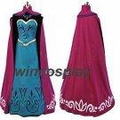 Frozen Snow Queen Elsa Coronation Dress Cloak Robe Cosplay Costume custom made