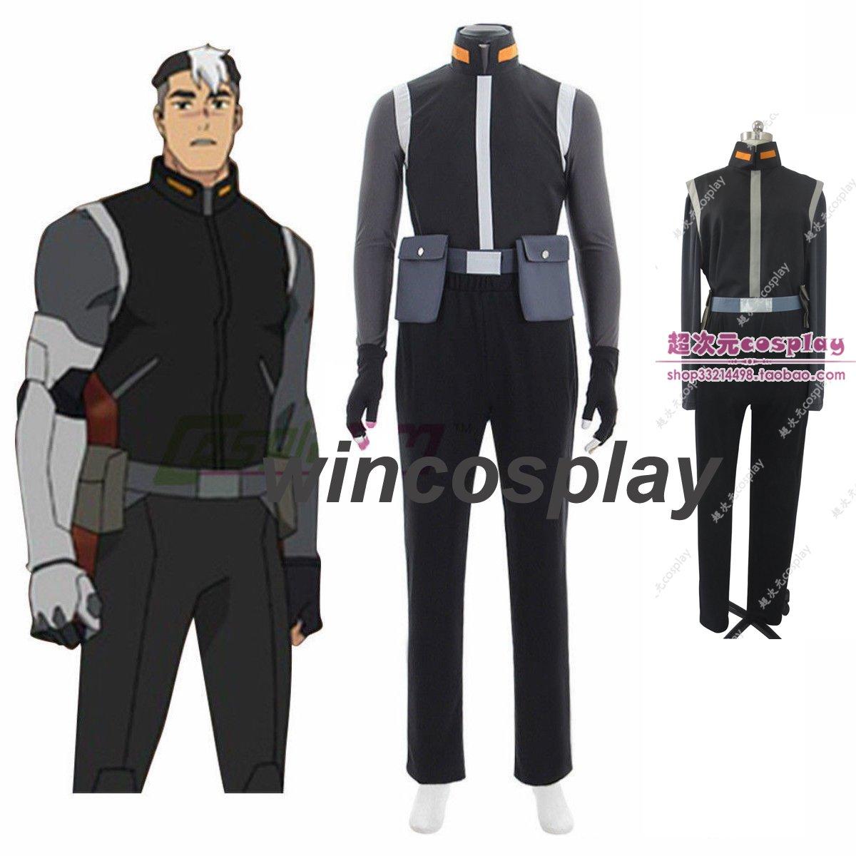Voltron:Legendary Defender Takashi Shiro Shirogane Cosplay Costume Custom Made